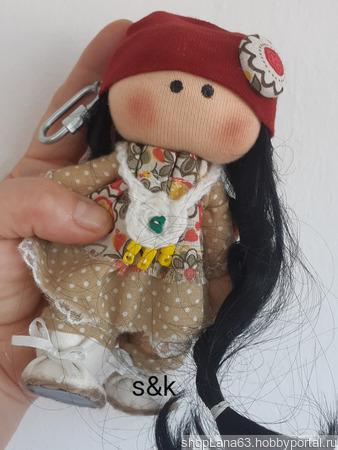 Кукла-брелок ручной работы ручной работы на заказ