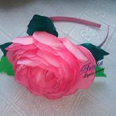 """Ободок канзаши """"Роза"""""""