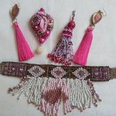 """Украшение """"Розовая леди"""" - комплект"""