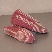 Тапочки-следочки тунисским крючком