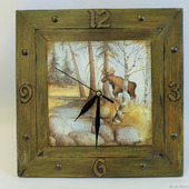 Часы настенные - подарок мужчине-охотнику