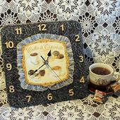 """Оригинальные часы """"Кофе и шоколад"""""""