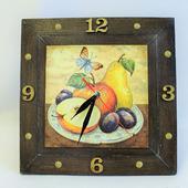 """Часы на кухню """"Фруктовые Часы"""" в подарок"""