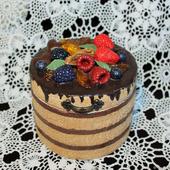 """Шкатулка для украшений """"Шоколадный торт"""""""