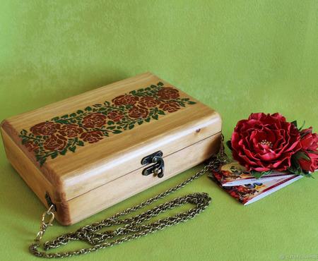 Деревянная сумка ручной работы на заказ
