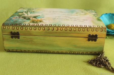 """Сумка из дерева """"Алиса в стране чудес"""" ручной работы на заказ"""