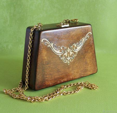 Модная сумка из дерева ручной работы на заказ