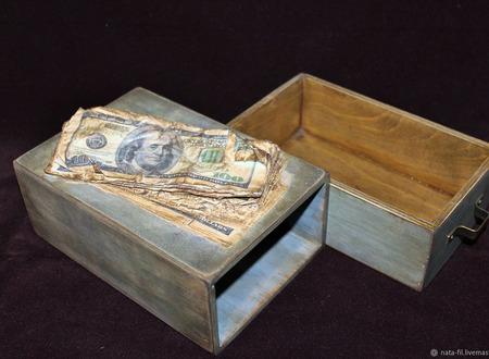 """Шкатулка """"Казна для денег"""" ручной работы на заказ"""