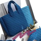 Мастер-класс по вязанию сумки шоппер из трикотажной пряжи крючком