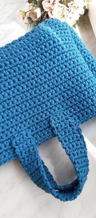 Мастер-класс по вязанию сумки шоппер из трикотажной пряжи крючком ручной работы на заказ