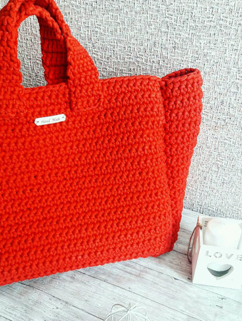 Вязаная сумка-шоппер ручной работы на заказ