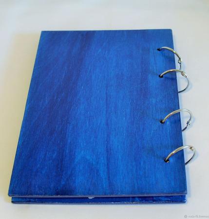 Деревянный блокнот на кольцах с мотивирующей надписью ручной работы на заказ