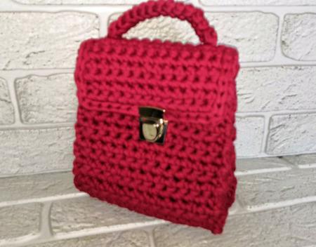 Вязаная сумка из трикотажной пряжи ручной работы на заказ
