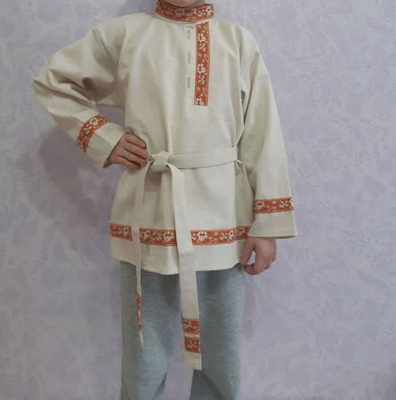 Рубашка косоворотка детская ручной работы на заказ