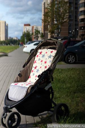 Матрасик для коляски Baby Jogger City Lite ручной работы на заказ
