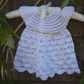 Платье на новорожденную девочку