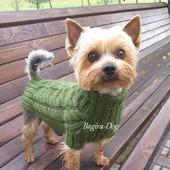 фото: Для домашних животных (вязаная одежда для йорка)