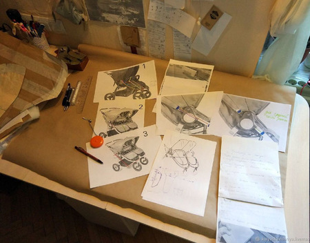 Матрасики в коляску Bugaboo Donkey Twin ручной работы на заказ
