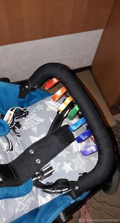 Накладки на ручку и бампер коляски ручной работы на заказ