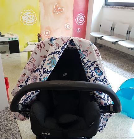 Накидка-шатер для автолюльки/коляски ручной работы на заказ
