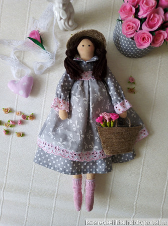 Текстильная кукла Зоя ручной работы на заказ