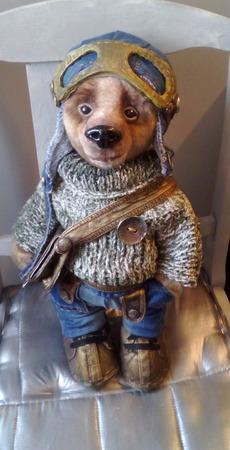 Медведь Пилот ручной работы на заказ