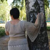 Шейный платок из льна