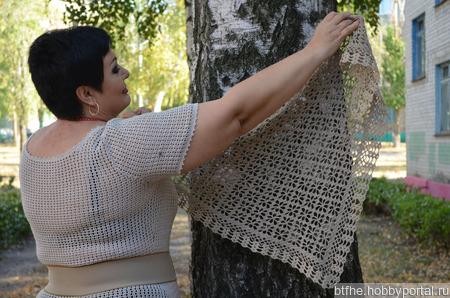 Шейный платок из льна ручной работы на заказ