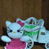 """Вязаная """"Hello Kitty"""" крючком"""