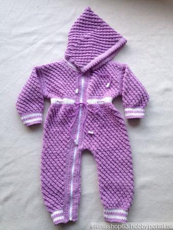 Комбинезоны вязаные для новорожденных ручной работы на заказ