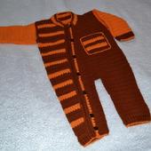 Комбинезоны вязаные для новорожденных: рукодельные товары