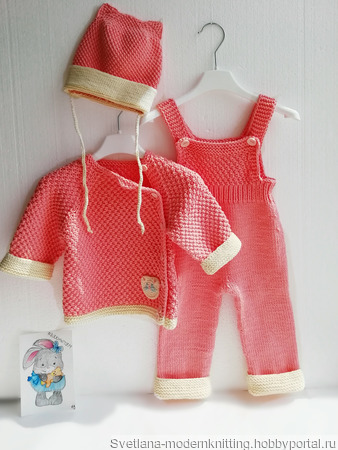 """Вязанный костюм для новорожденной """"Котенок"""" ручной работы на заказ"""