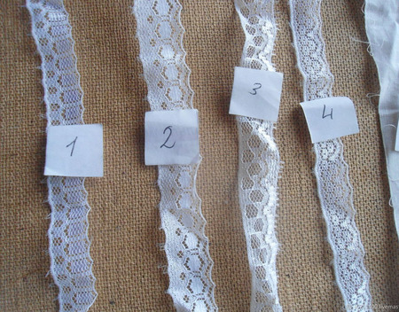 Кружево узкое и шитье ручной работы на заказ
