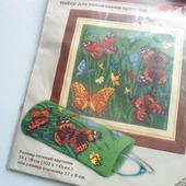 """Набор для вышивки """"Бабочки и маки"""""""