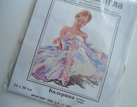 """Набор для вышивания """"Балерина"""" ручной работы на заказ"""