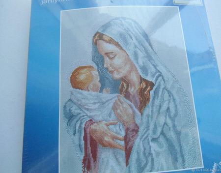 "Набор для вышивания ""Мария с младенцем"" ручной работы на заказ"