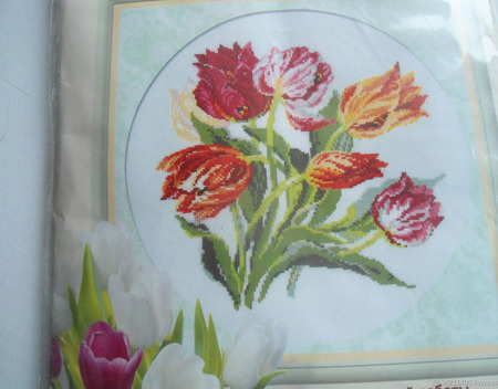 "Набор для вышивания ""Тюльпаны"" ручной работы на заказ"