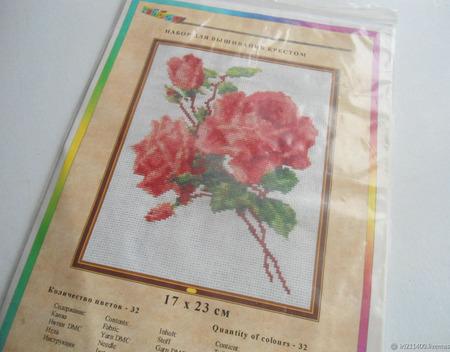 """Набор для вышивания крестом """"Розы Тюльпаны"""" ручной работы на заказ"""