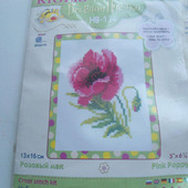 """Наборы для вышивания """"Розовый мак"""""""