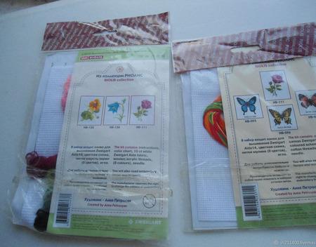 """Наборы для вышивания """"Роза Анабель"""" и """"Розовый мак"""" ручной работы на заказ"""