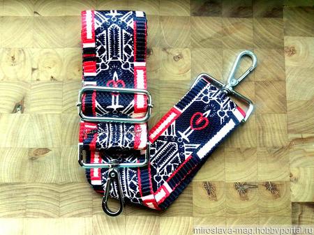 Ремень для сумки (текстильный) №6/5 ручной работы на заказ