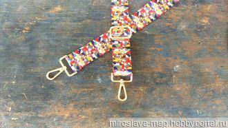 Ремень для сумки (текстильный) №6/4 ручной работы на заказ