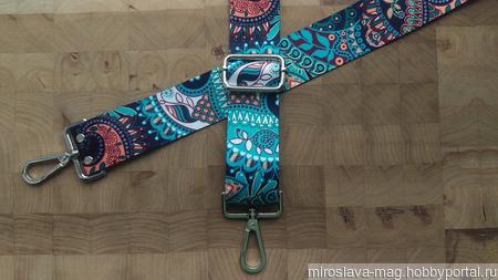 Ремень для сумки (текстильный) №7/4 ручной работы на заказ