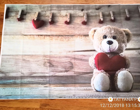 Фотофон детский виниловый ручной работы на заказ