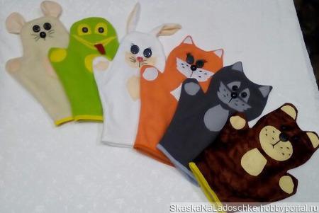 Перчаточные куклы ручной работы на заказ