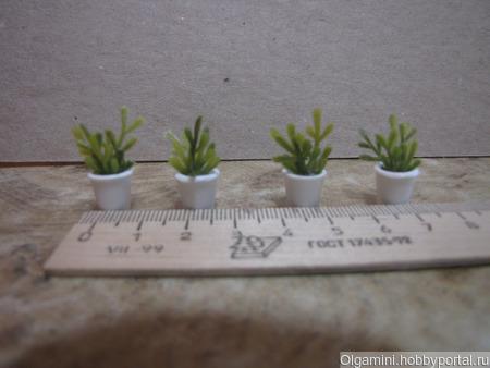 Мини-растения в горшочках в ассортименте ручной работы на заказ