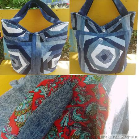 Джинсовая сумка ручной работы на заказ