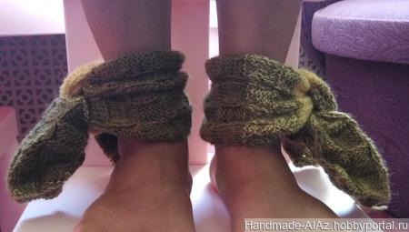 Комплект митенки и шарфики для щиколоток ручной работы на заказ