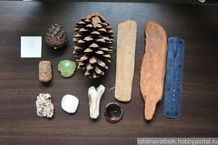 Морские находки набор 3 дерево шишки, ракушки и т.п ручной работы на заказ