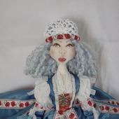 Скульптурно-текстильная кукла Маковка
